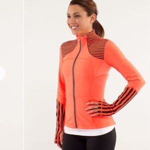 Lululemon Forme Orange & Black Full Zip Jacket 10